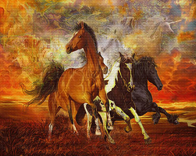Painting - Fantasy Horse Visions by Steve Roberts
