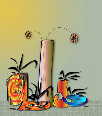 Digital Art - Fantasy House Plants 11 by Iris Gelbart