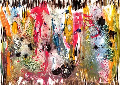 Fantasy Iland Abstract  Art Print by Dazo Anderson