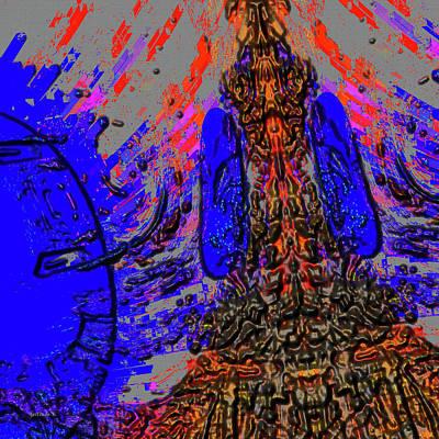 Fantasy In Blue Art Print by Gerlinde Keating - Galleria GK Keating Associates Inc
