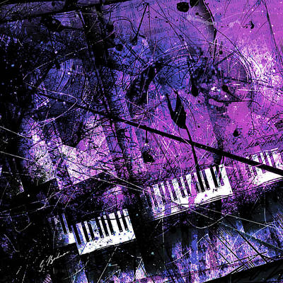 Composer Digital Art - Fantasy In F Minor by Gary Bodnar