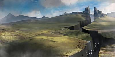 Epic Digital Art - Fantasy Landscape by Jeff Brown