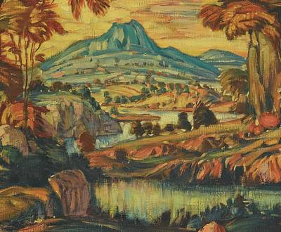Fantasy Painting - Fantasy Landscape by Konstantin Fedorovich