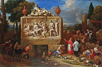 Borromeo Painting -  Fantasy Landscape With Saint Charles Borromeo by Henry Ferguson
