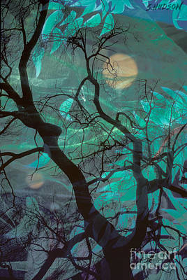 Photograph - fantasy landscapes surreal art photograph - Yellow Moons by Sharon Hudson