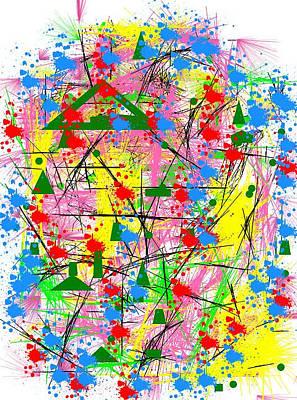 Foulard Digital Art - Fantasy by Maria Fiorella Borrini