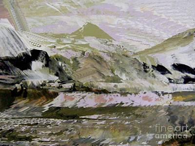 Mixed Media - Fantasy Mountains 2 by Nancy Kane Chapman