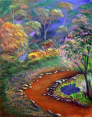 Painting - Fantasy Path by Dawn Blair