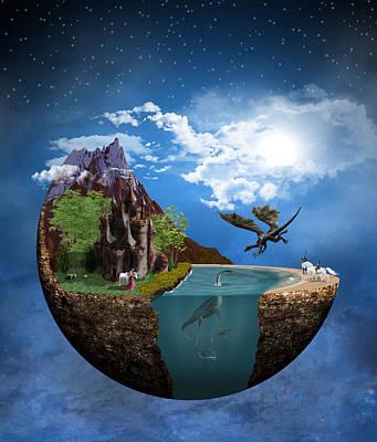 Digital Art - Fantasy Planet 1 by Solomon Barroa