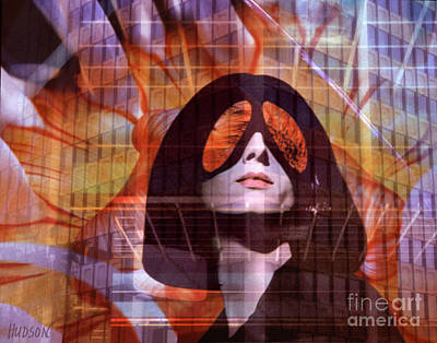 Photograph - fantasy portrait surrealism - I Witness by Sharon Hudson