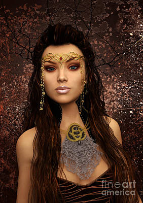 Digital Art - Fantasy Queen by Elle Arden Walby