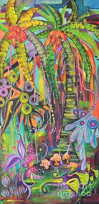 Painting - Fantasy Rainforest by Lyn Olsen