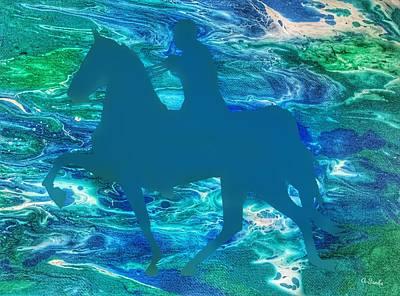 Digital Art - Fantasy Rider by Anne Sands