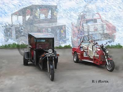 Painting - Fantasy Rides  by Roberta Martin
