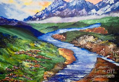 Art Print featuring the painting Fantasy by Saundra Johnson