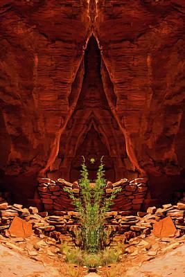 Digital Art - Fantasy Shrine 01 by Scott McAllister