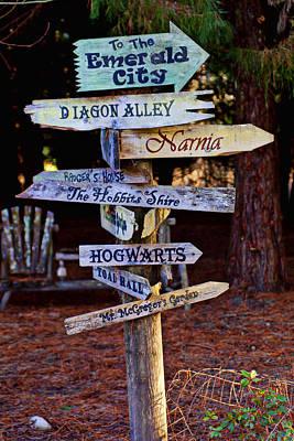 Hogwarts Photograph - Fantasy Signs by Garry Gay