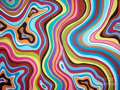 Fantasy Swirl Print by Karla Gerard
