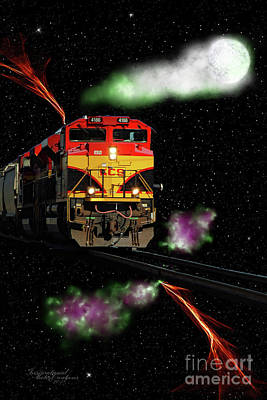 Photograph - Fantasy Train by Inspirational Photo Creations Audrey Taylor