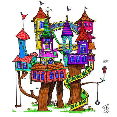 Fantasy Treehouse Art Print