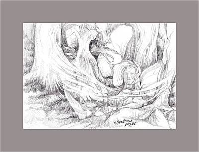 Drawing - Fantasy Trees by Ruth Renshaw