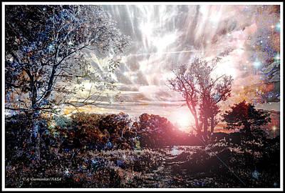 Pennypack Photograph - Fantasy Twilight, Montgomery County, Pennsylvania by A Gurmankin NASA