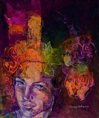 Fantasy With Roses Art Print