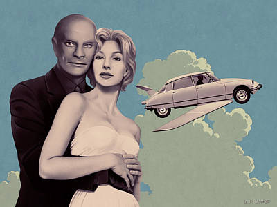 Painting - Fantomas - Print Version by Udo Linke
