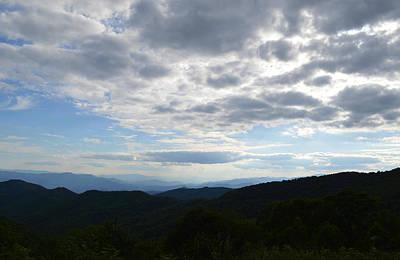 Photograph - Far Away Across The Mountains by rd Erickson