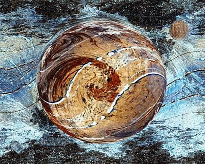Digital Art - Far Distant New World by rd Erickson