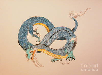Drawing - Far East Wind Walker by Wendy Coulson