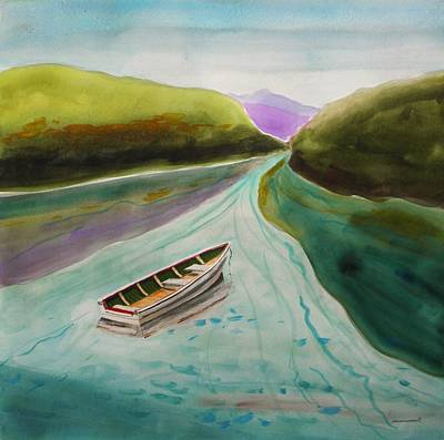 Painting - Far From The Bridge by John Williams