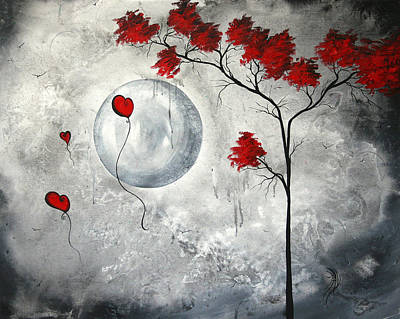 Heart Painting - Far Side Of The Moon By Madart by Megan Duncanson