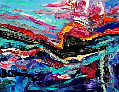 Painting - Far Sun by Expressionistart studio Priscilla Batzell