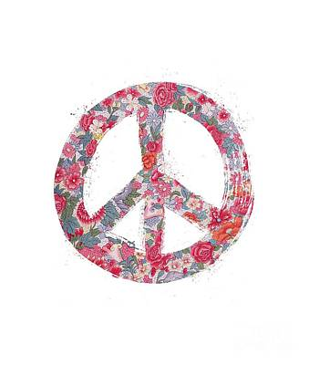 Digital Art - Far Too Pretty Peace Symbol #1 by Nola Lee Kelsey
