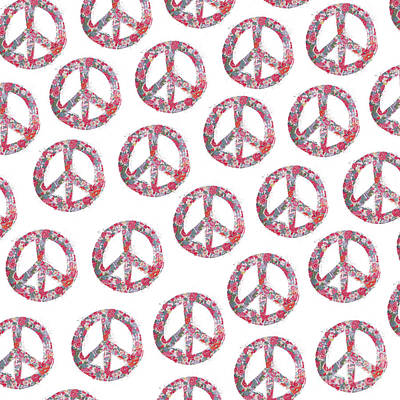 Digital Art - Far Too Pretty Peace Symbols by Nola Lee Kelsey