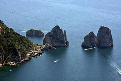 Photograph - Faraglioni A Capri  by Harvey Barrison