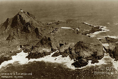 Photograph - Farallon Island Lighthouse Pacific Ocean April 4, 1924 by California Views Mr Pat Hathaway Archives