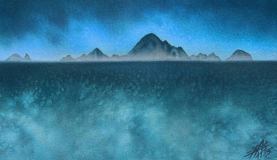 Painting - Farallon Islands II Or The Misty Isle by Robin Street-Morris