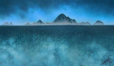 Farallon Islands II Or The Misty Isle Art Print by Robin Street-Morris