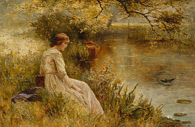 Overhanging Painting - Faraway Thoughts by Ernest Walbourn