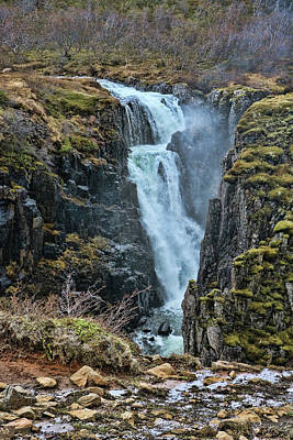 Photograph - Fardagafoss Waterfall # 1 by Allen Beatty