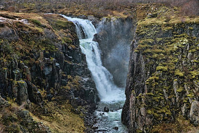 Photograph - Fardagafoss Waterfall # 2 by Allen Beatty