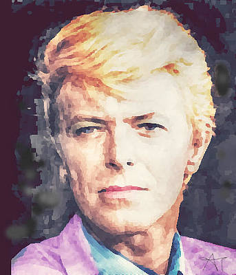 Painting - Farewell David Bowie by Ana Tirolese