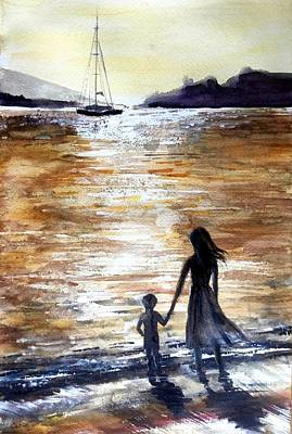 Painting - Farewell by Katerina Kovatcheva
