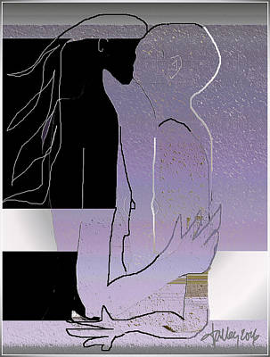 Digital Art - Farewell Kiss by Larry Talley