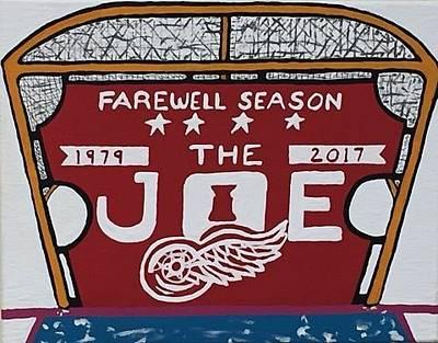 Hockey Games Drawing - Farewell Season Detroit Red Wings The Joe by Jonathon Hansen