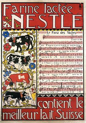 Mixed Media - Farine Lactee Nestle - Contient Le Meilleur Lait Suisse - Vintage Advertising Poster by Studio Grafiikka