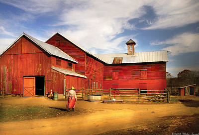 Farm Photograph - Farm - Barn - Going Back To The Farm by Mike Savad