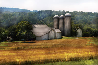 Farm - Barn - Home On The Range Art Print by Mike Savad